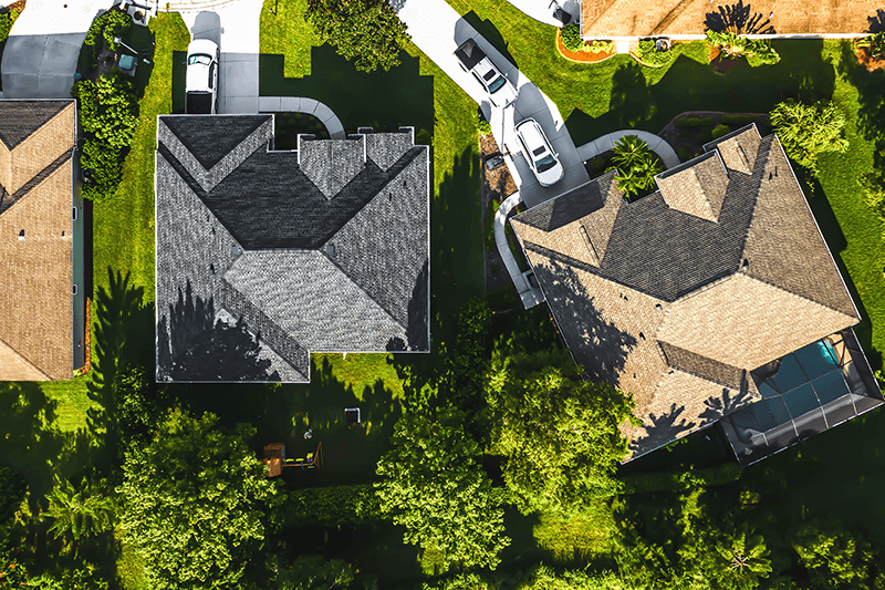 Aerial Grey tiled roof image