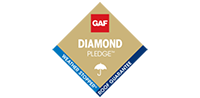GAF Diamond Pledge logo image