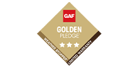 GAF Golden Pledge logo image